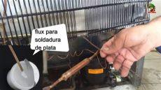 fuga gas nevera fuga de gas en nevera como tapar soldando fuga de gas