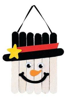 diy craft stick santa snowman craft for kids easy winter crafts that anyone can make happiness is