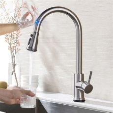 pull out sensor kitchen faucet stainless steel sensitive touch faucet mixer for kitchen - Touch Sensor Kitchen Faucet Reviews