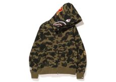 bape 1st camo shark zip hoodie green bathing ape - Bape Hoodie Camo