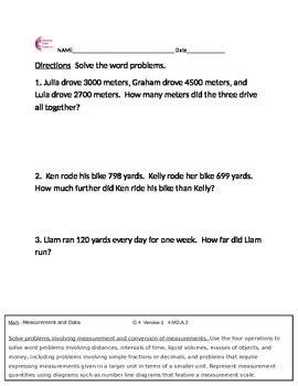 4 2 measurement data word problems 4th grade