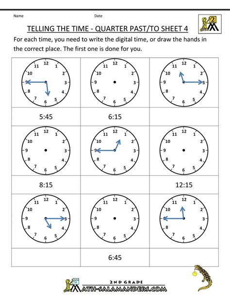 math worksheets 2nd graders grade math worksheets telling