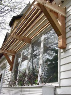 horizontal slat awning all wood diy awning pergola indoor window - Window Awning Plans