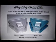stay dry water dish uk dogs using stay water dish no more floors