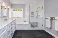picking tile at floor decor master bathroom by goldwyn live creatively traditional master bathroom with montauk black slate tile ms international undermount sink