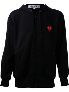 comme des garcons play sweat shirt play comme des gar 231 ons embroidered sweatshirt in black for lyst