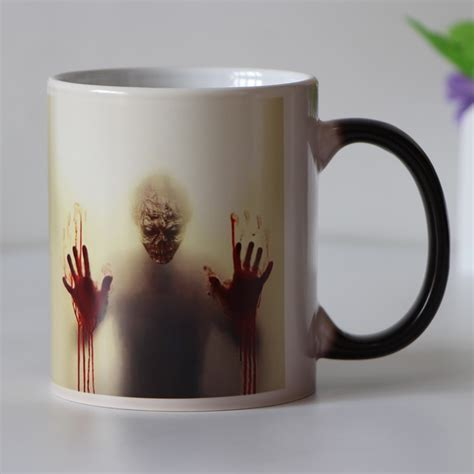 drop shipping designs zombie color changing coffee mug