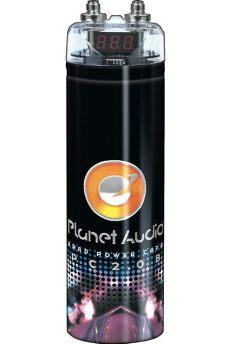 2 farad capacitor reviews planet audio pc2 0b 2 farad capacitor with digital voltage display black finish plt12 pc2 0b