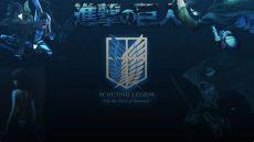 attack on titan scout regiment logo wallpaper attack on titan logo wallpaper wallpapersafari