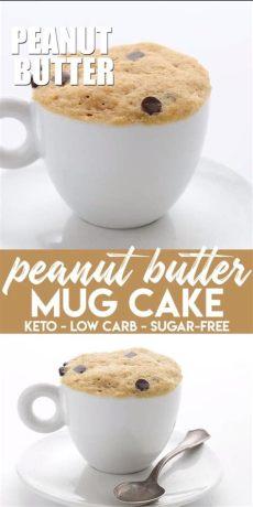 erdnussbutter low carb selber machen keto erdnussbutter becher kuchen low carb tassenkuchen erdnussbutter keto desserts