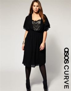 asos curve collection asos collection asos curve dress with lace front and back panels in black lyst