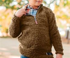 appalachian pile sherpa pullover youth appalachian pile sherpa pullover southern marsh collection