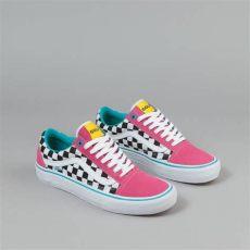 vans skool pro shoes golf wang blue pink white flatspot - Golf Wang Vans Uk