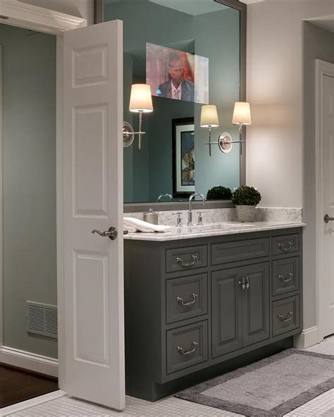 oval freestanding tub front french doors cottage bathroom