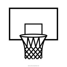 basketball hoop coloring page ultra coloring pages - Canasta De Basquetbol Dibujo Png