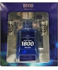 1800 tequila gift set with flask 1800 silver tequila gift set arlington wine liquor