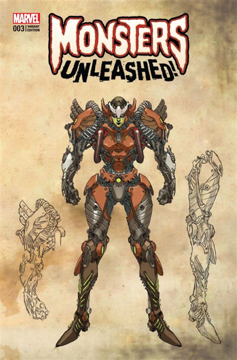 monsters unleashed 3 yu monster cover fresh comics