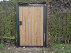 metal framed wooden gates uk steel framed wood gates