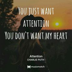 attention lyrics quotes attention by puth puth attention puth
