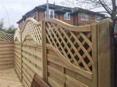 installing lattice fence panels european garden omega lattice top fence panels ormskirk lancashire abel landscaping