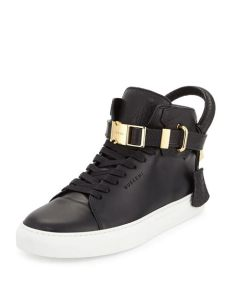 buscemi sneakers lyst buscemi 100mm bison high top sneaker in black