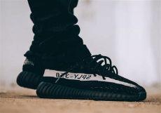 on images of the adidas yeezy boost 350 v2 black white kicksonfire - Yeezy 350 V2 Black White On Feet