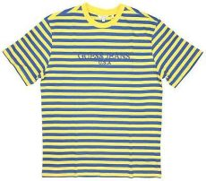 guess asap rocky tee shirt guess x asap rocky yellow blue stripes t shirt 100 00 picclick