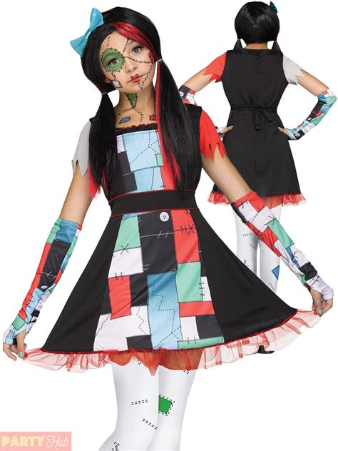 age 8 16 girls broken rag doll costume