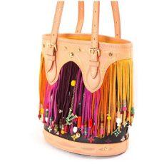 louis vuitton multicolor bucket bag louis vuitton black monogram multicolor fringe bag
