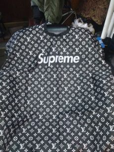 supreme louis vuitton barber cape louis vuitton x supreme barber cape just me and supreme