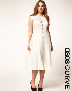 lyst asos collection asos curve dress with button front in - Asos Curve Collection