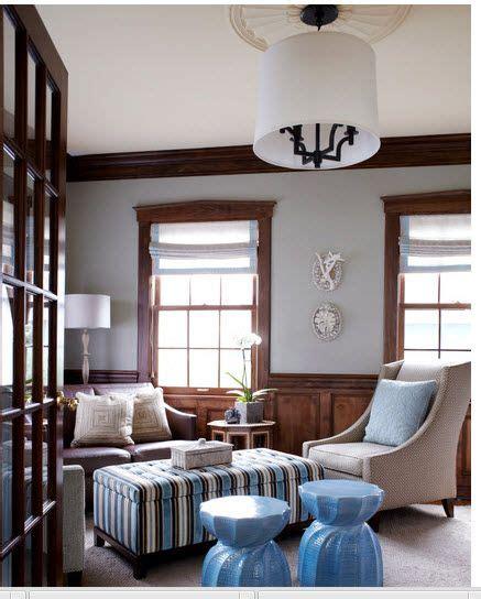 love woodwork gray roman shades riped ottoman room