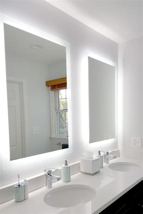 side lighted led bathroom vanity mirror 40 48