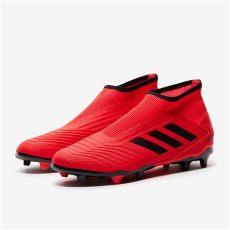 botas de futbol sala adidas sin cordones botas de f 250 tbol adidas predator 19 3 cordones fg rojo negro