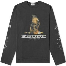 rhude clothing brand rhude sleeve almost home black end