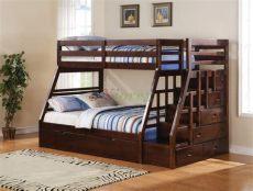 literas de madera modernas para adolescentes taurus bunk bed with stairs and trundle in espresso xiorex