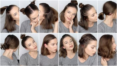 12 easy hairstyles short hair youtube