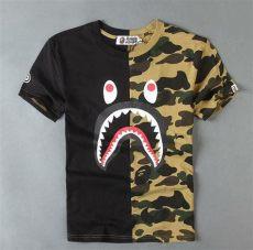 bape shirt shark fashion s bape camo shark jaw icon pattern a bathing ape t shirt m top ebay