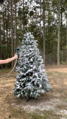 give your tree a flocking this christmas vancouver how to flock an artificial tree domestically blissful