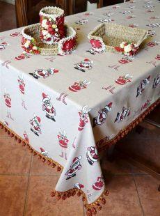 christmas tablecloths uk handmade linen blend tablecloth reindeer