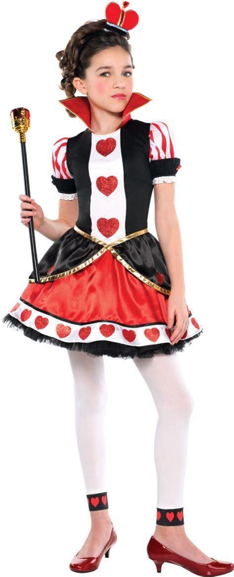 girls queen hearts costume party city halloween pinterest
