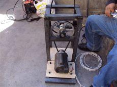 motor con polea casero molino corona con motor electrico