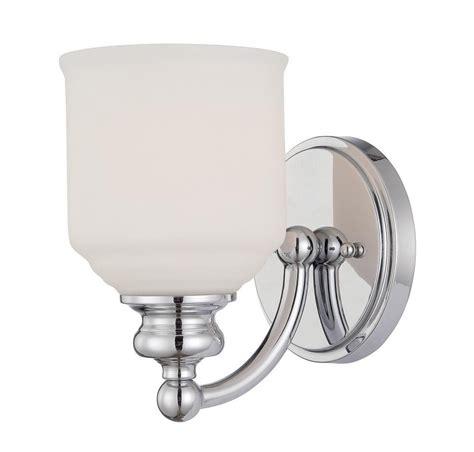 bath light white opal etched glass polished chrome