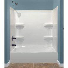 acrylic shower lowes style selections white acrylic rectangular bathtub bathtub with left drain common 27 in x