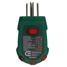 home depot receptacle tester commercial electric gfci receptacle tester the home depot canada