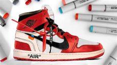 drawing white x nike air 1 - Nike Off White Jordan 1 Drawing