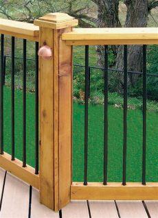 veranda railing kits veranda horizontal deck rail kit in black the home depot canada
