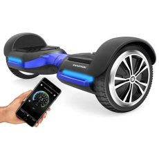 swagtron t580 hoverboard scooter with bluetooth speaker swagtron t580 hoverboard with bluetooth speakers app enabled self balancing scooter blue