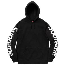 supreme jacket black hoodie supreme sideline hooded sweatshirt black medium wyco vintage