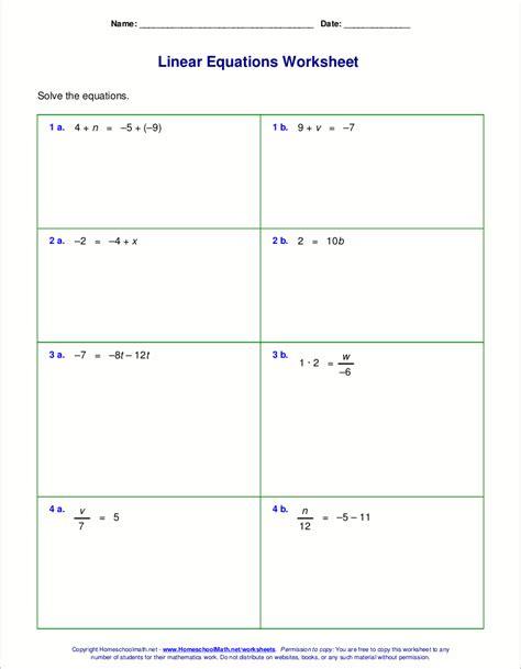 solving adding subtraction equations worksheet tessshebaylo